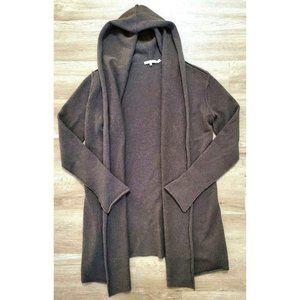 Vince Womens Brown Hooded Cardigan Sweater Medium